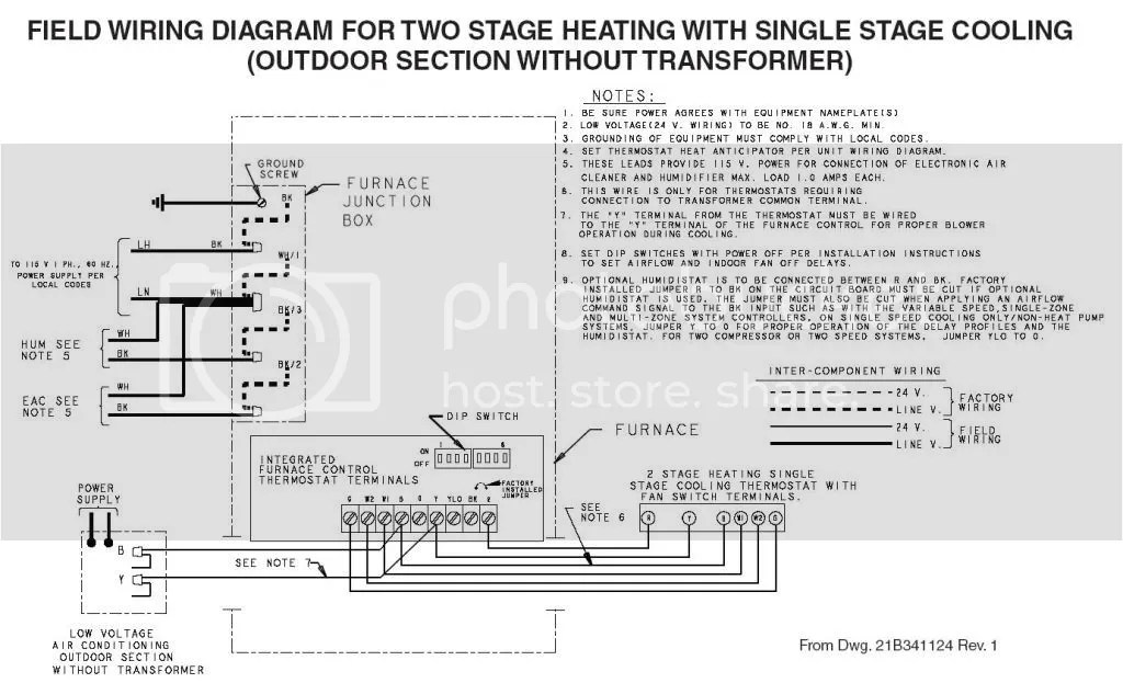 2 stage thermostat wiring diagram unit heater furnace heat great installation of ac doityourself com community forums rh house diagrams color code