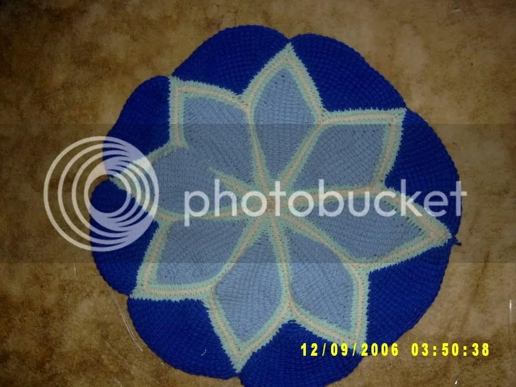 My Tunisian Flower Pillow