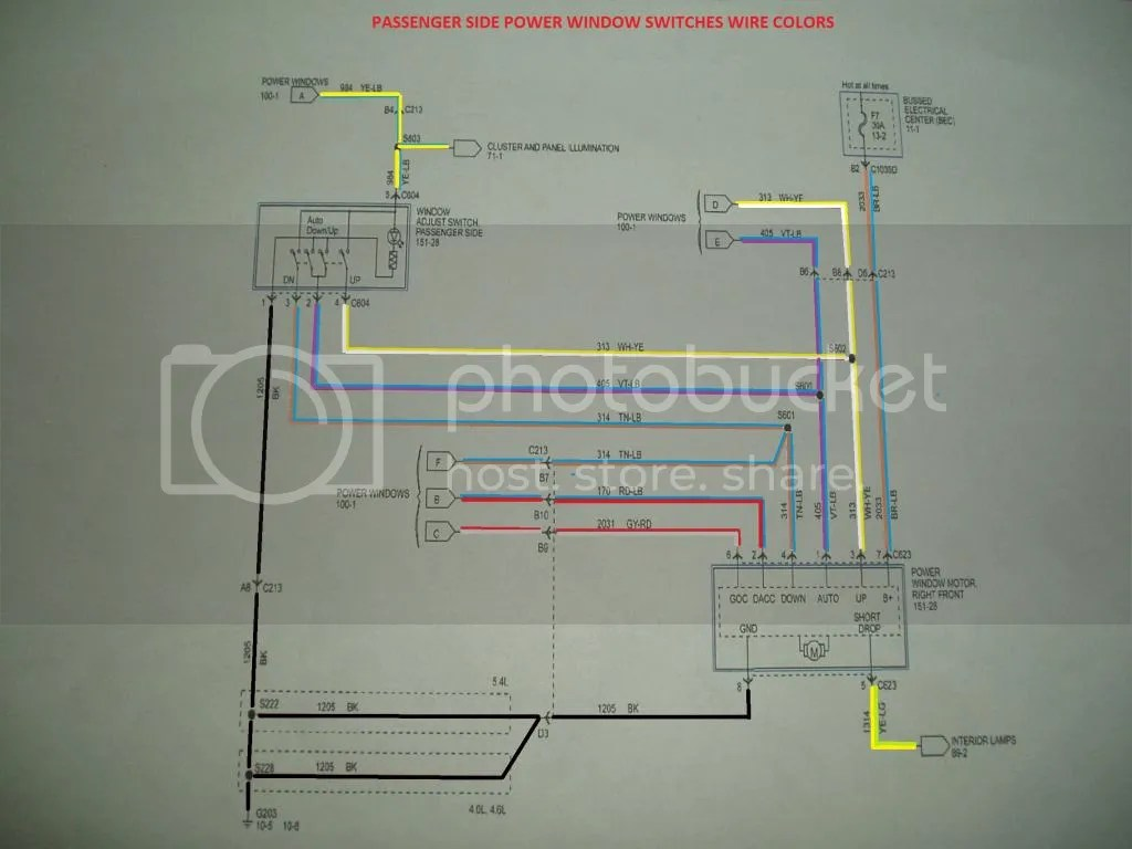 Wiring Diagram For Power Window Switches