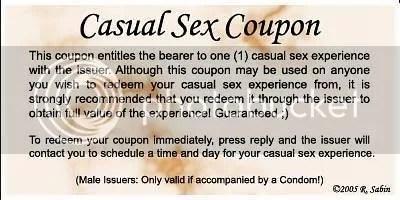 casual sex coupon