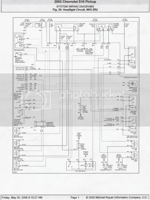 small resolution of headlight wiring diagram 98 s 10 forum 2003 chevrolet blazer headlight wiring