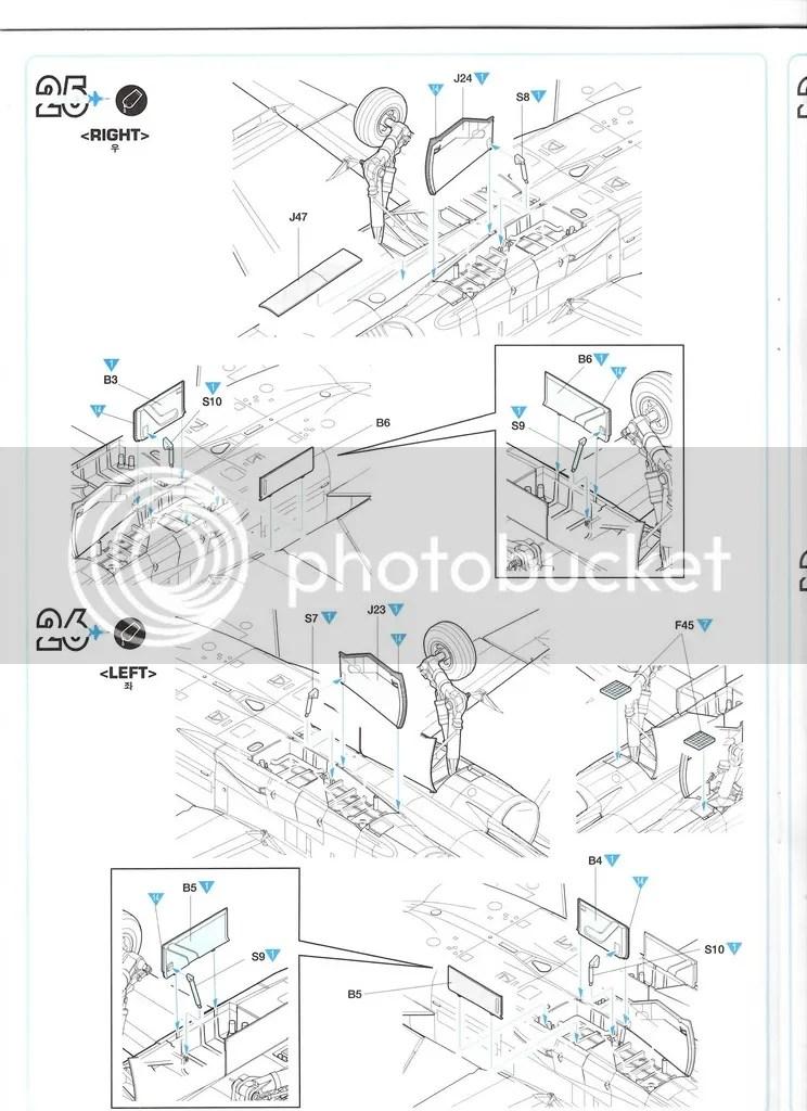 1/32 Academy F/A-18C & F/A-18D Instruction Manuals