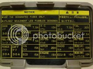Fuse Box Daihatsu Espass | Wiring Library