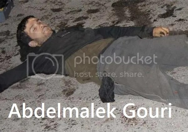 Abdelmalek Gouri, alias Abou Souleiman Khaled, émir of Daesh in Algérie  - Agency Algeria Press Service released images of the body of the killed terrorist