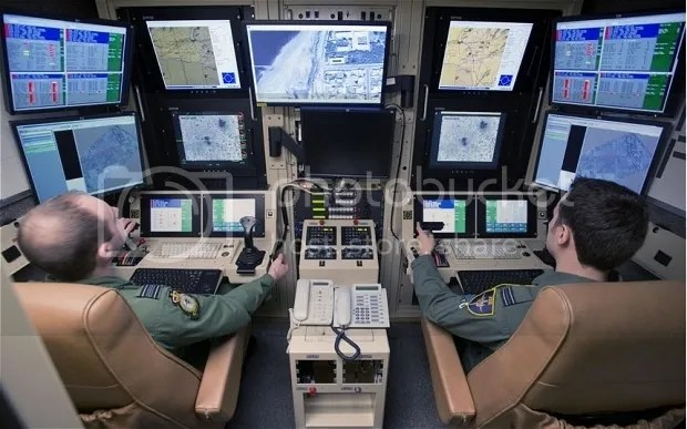 RAF Waddington in Lincolnshire, from where pilots seated in small purpose-built cabins control aircraft thousands of miles away,