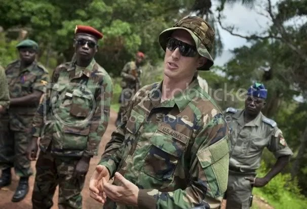 U.S. contingent Obo  in the Central African Republic.