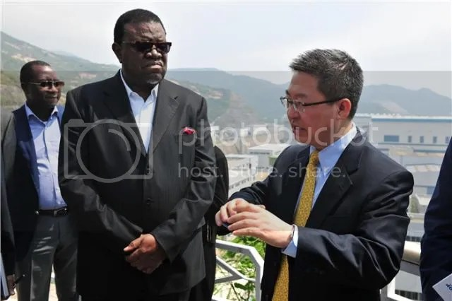 Hage Geingob, Prime Minister of Namibia, visited CGN on April 11, 2014