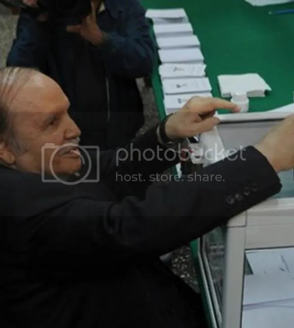 Algeria's ailing president Abdelaziz Bouteflika voted on April 17 in the presidential election.
