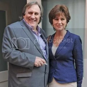 Gérard Depardieu with co-star Jacqueline Bisset in Tribeca. NYC