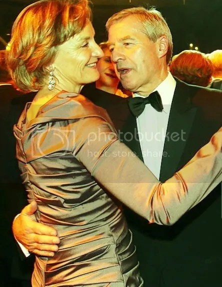 Deutsche Bank CEO Juergen Fitschen dances with Friederike Lohse