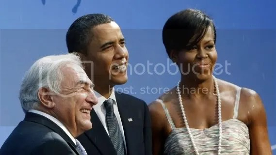 With Obamas while heading up IMF in Washington, D.C.