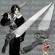 Squall Lionheart's Gun Blade Sword - Final Fantasy VIII