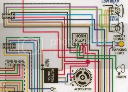 horn wiring diagram with relay 9n 12 volt 1966 chevelle help tech originally posted by dean view post