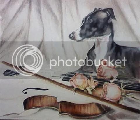 Italian Greyhound Art in progress