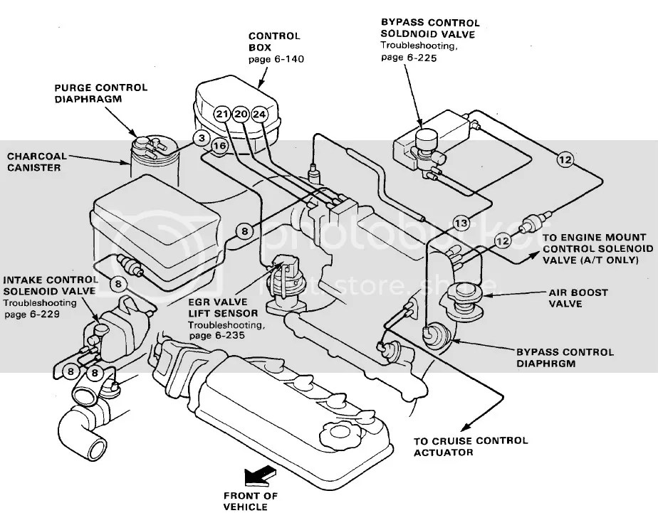 97 Prelude Engine Diagram 97 Civic Engine Diagram Wiring
