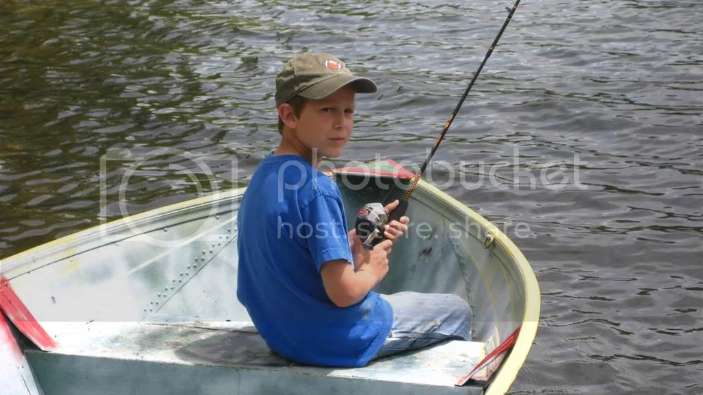 Nathan in boat