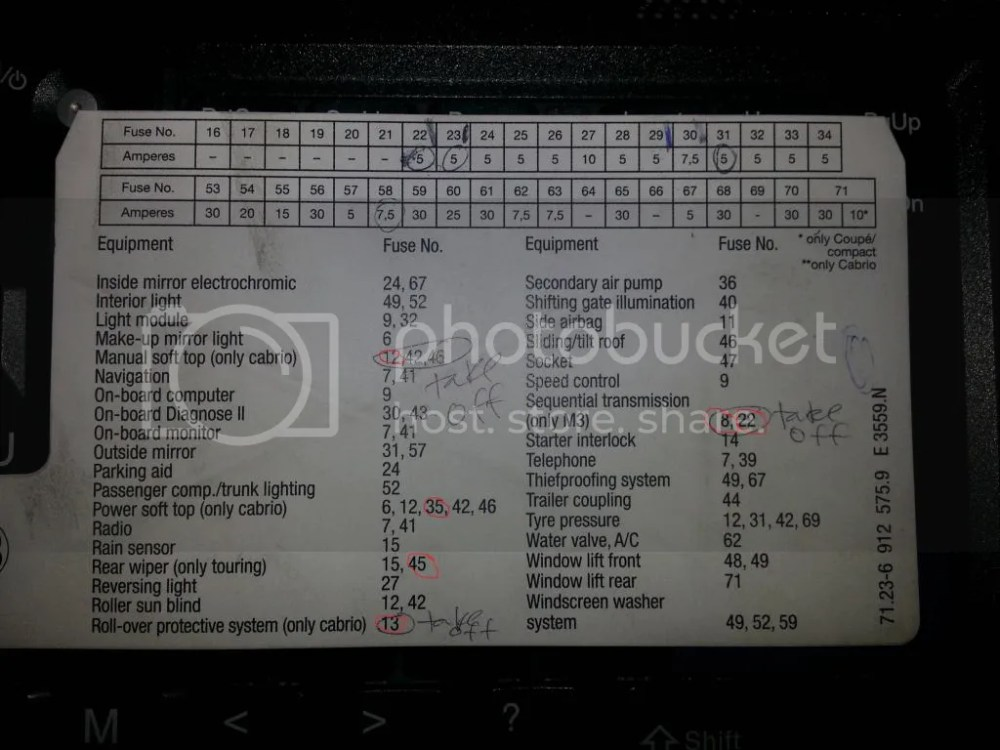 medium resolution of 2001 bmw fuse box wiring diagram for you 2007 bmw 328xi fuse diagram 2002 bmw 325ci fuse box diagram