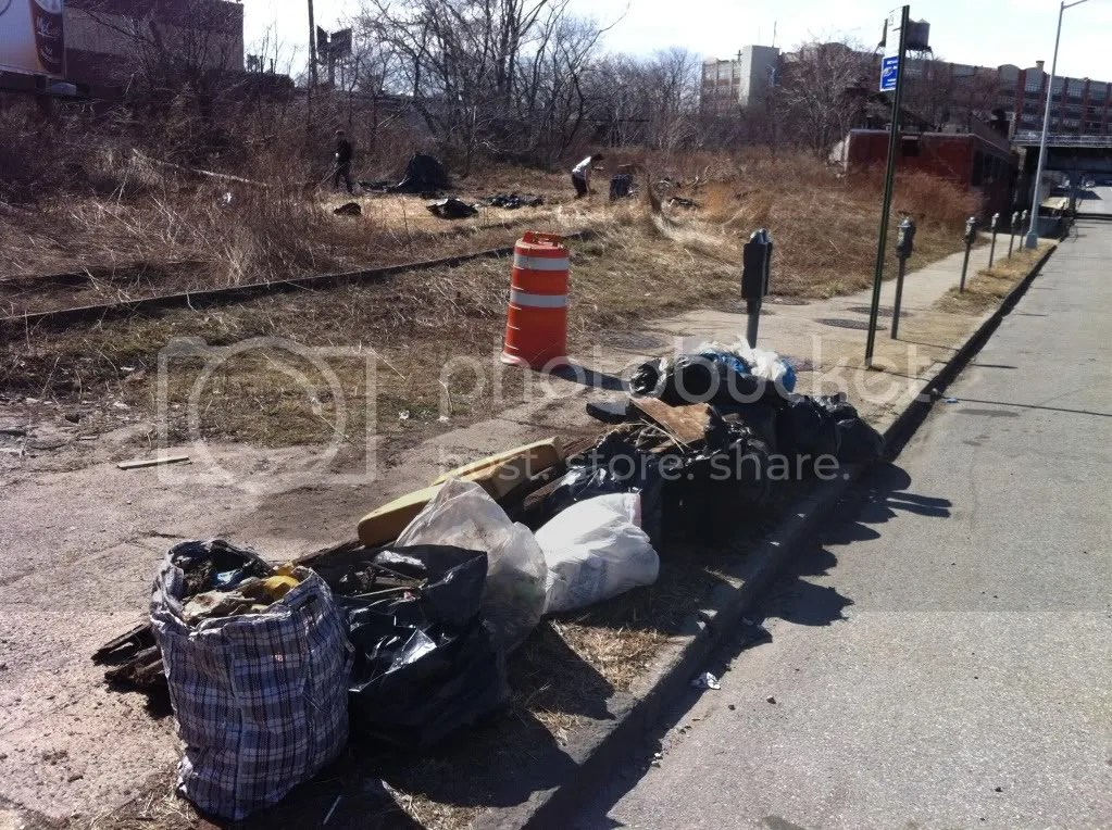 March 13 2011_10, This is just a portion of the trash and debris removed from the site.