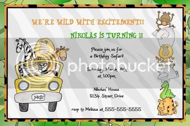 jungle safari invite