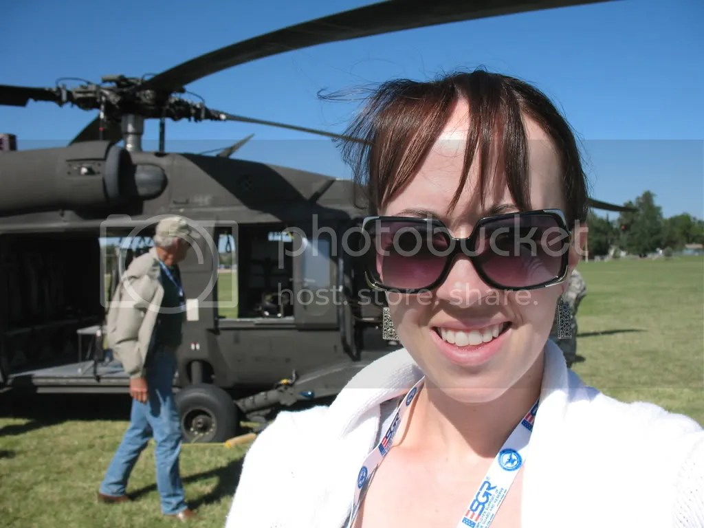Me and our helicopter