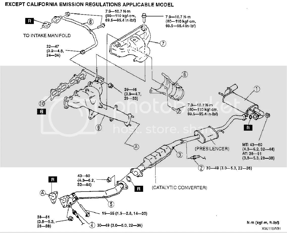 2001 mazda tribute exhaust system diagram 2000 silverado wiring heat oxygen sensor location 5 get free image about