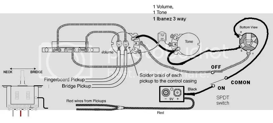 Emg Pickup Wiring One Pick Up One Volume One Tone : 49