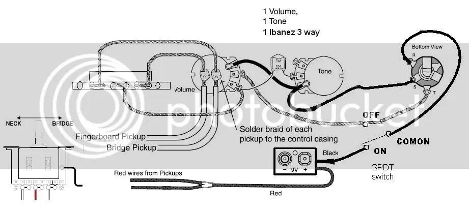 emg pickup wiring one pick up one volume one tone   49