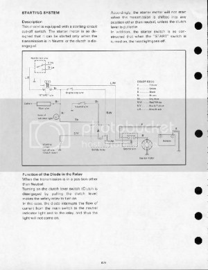 1980 SR250 Simplified Wiring Diagram
