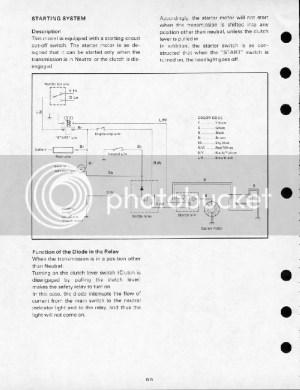 1980 SR250 Simplified Wiring Diagram