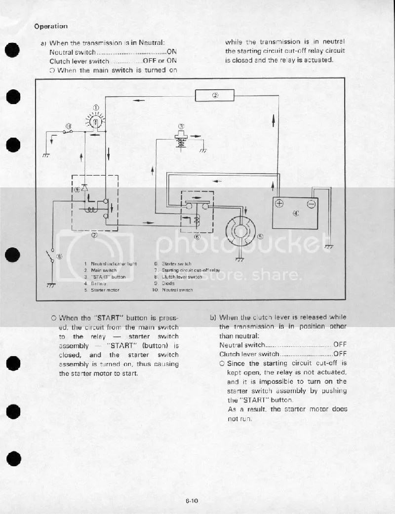 1980 SR250 Simplified Wiring Diagram