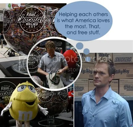 free chocolate, free mars chocolate, chocolate relief, mars real chocolate relief, neil patrick harris