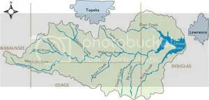 Wakarusa Watershed Map
