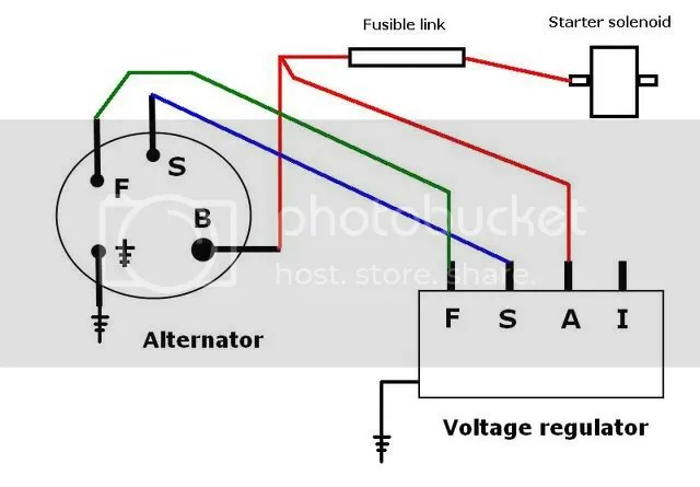 ford alternator wiring diagram no regulator ... 3 wire ford alternator voltage diagram #10