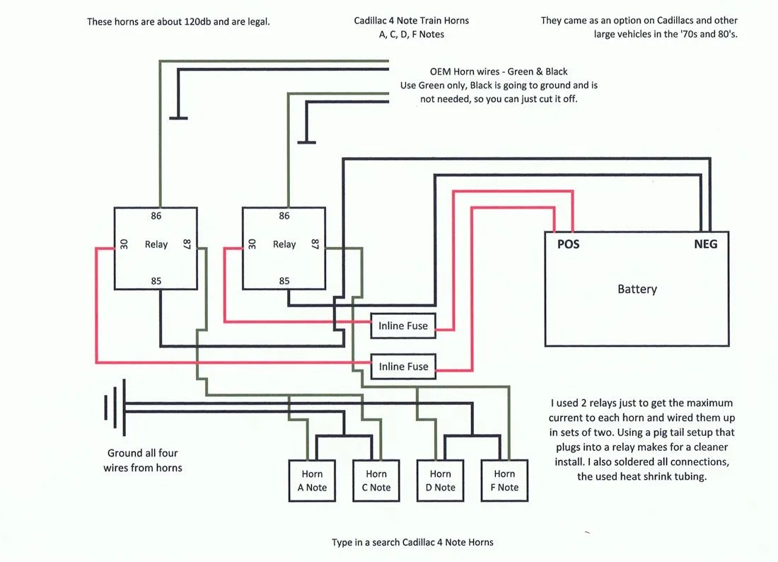 model a horn wiring diagram cooper 3 way light switch cadillac 4 note horns photo trainhornsschematic zps5b88be21 jpg