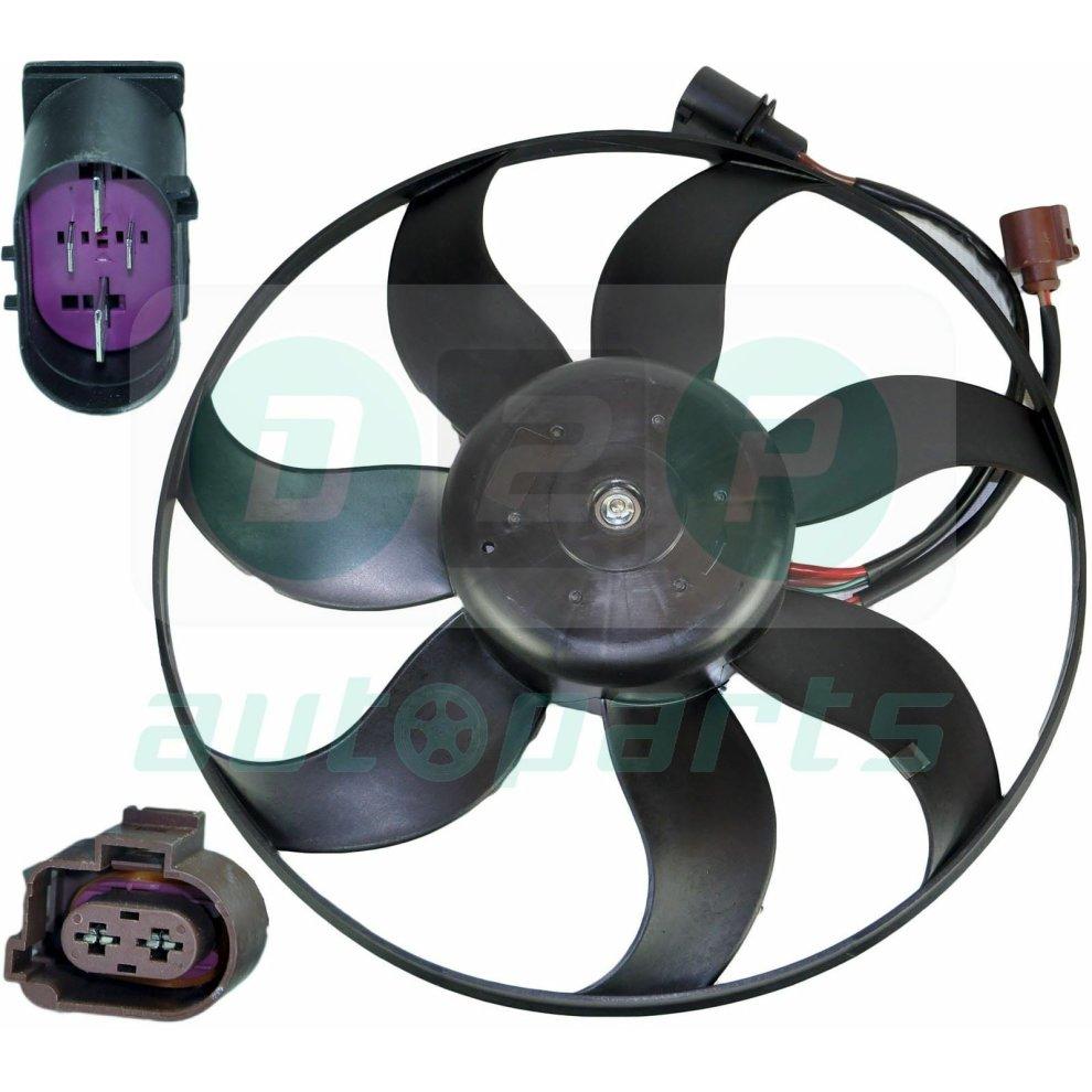 hight resolution of  radiator cooling fan with motor for skoda octavia ii superb ii yeti touran eos 4