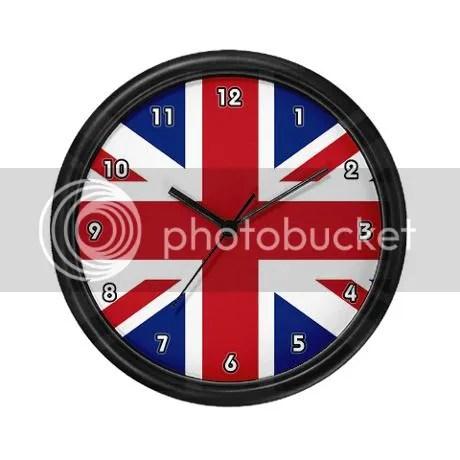 Union jack British Flag Wall Clock on CafePress