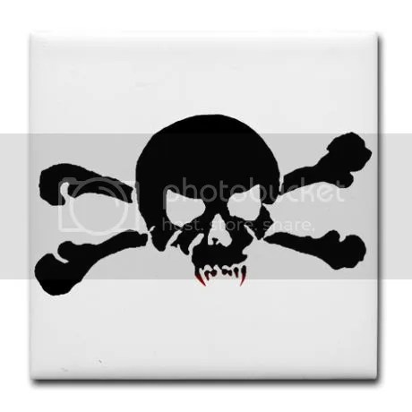 Skull of the Undead Tile Coaster on CafePress