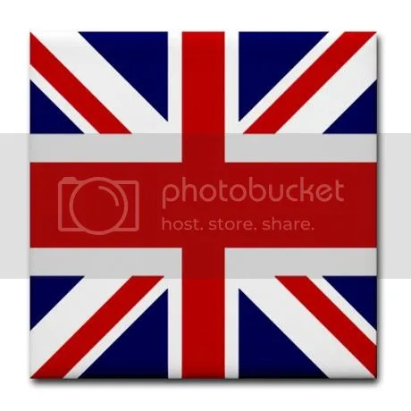 British flag Union Jack Tile Coaster on CafePress