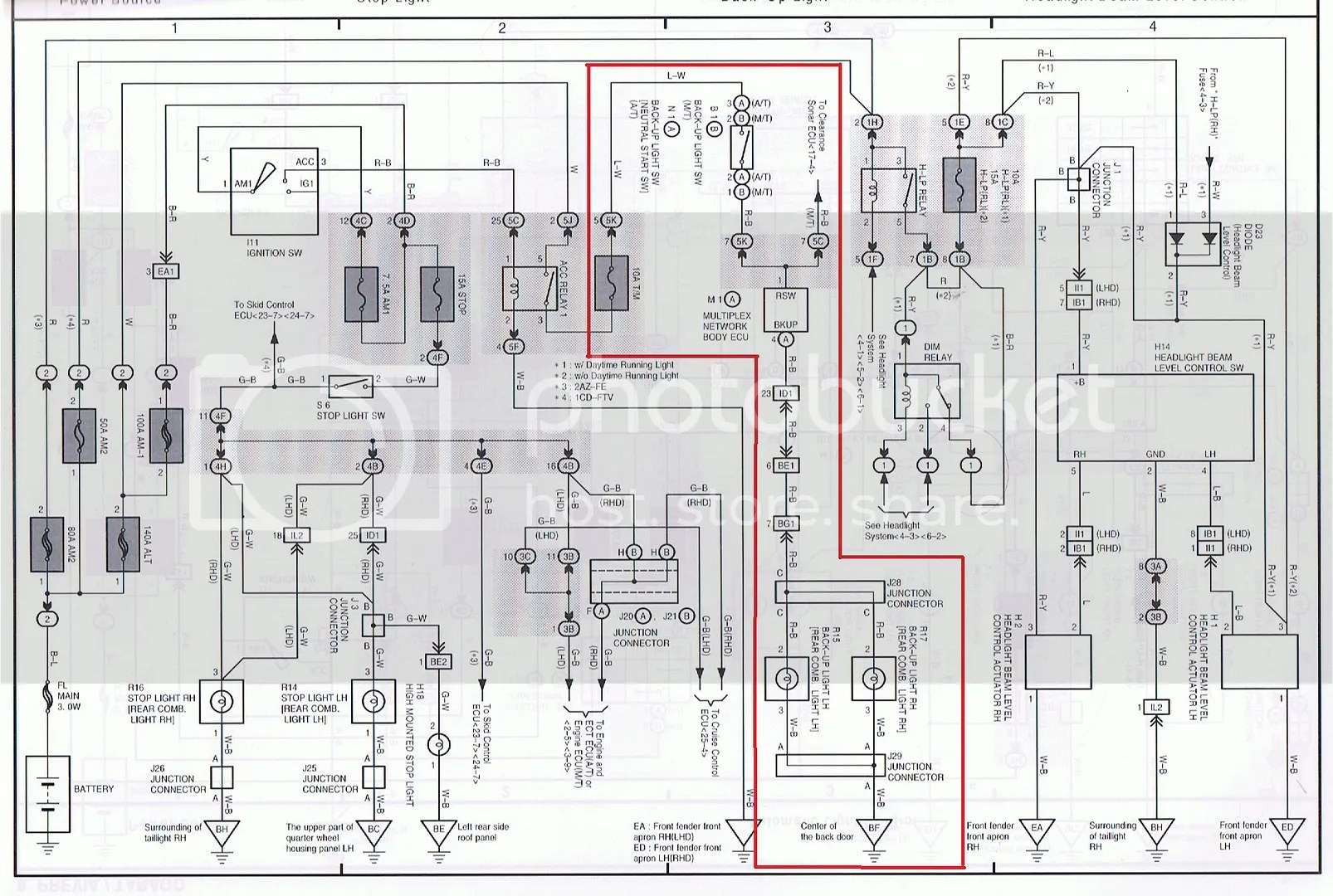 Wiring diagrams for toyota estima