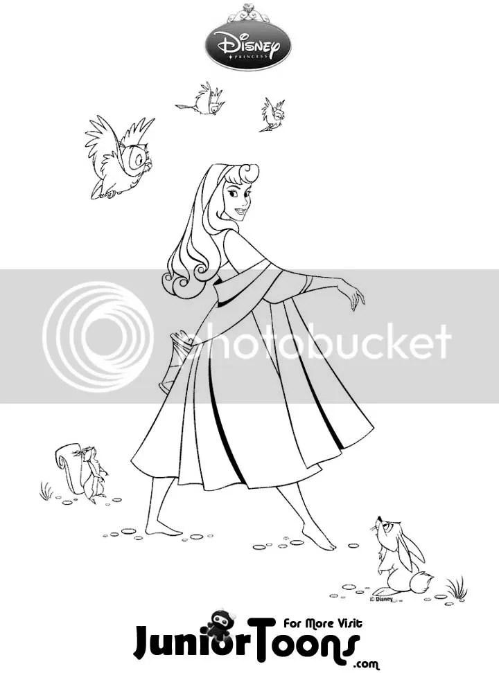Princess aurora coloring