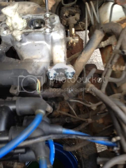 small resolution of 1987 dodge ram 50 engine g63b got the egr and fuel pump block off plates cut and mounted disregard the excess gasket on the face of the plates