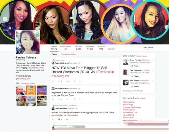 Twitter Header 2014 Template PSD