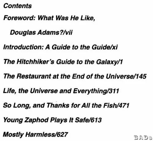 HITCHHIKER'S GUIDE TO THE GALAXY 1979 1-5 ULTIMATE 5 Part