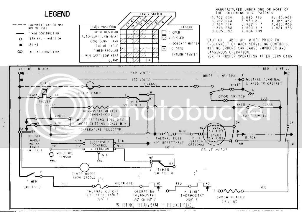 wiring diagram maytag dryer