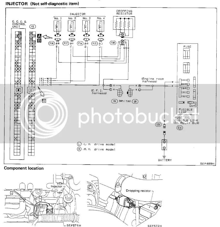Nissan 200sx s13 ca18det ecu pinouts