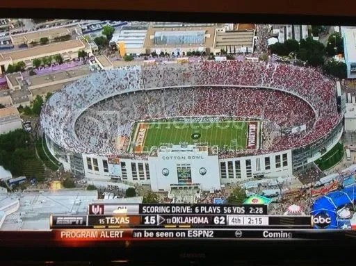 Image result for ou tx empty stadium