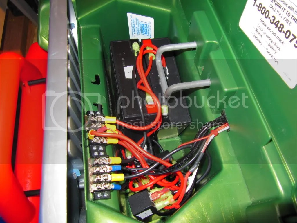 modified power wheels wiring diagram headlight relay charging plus 12 to 18 volt