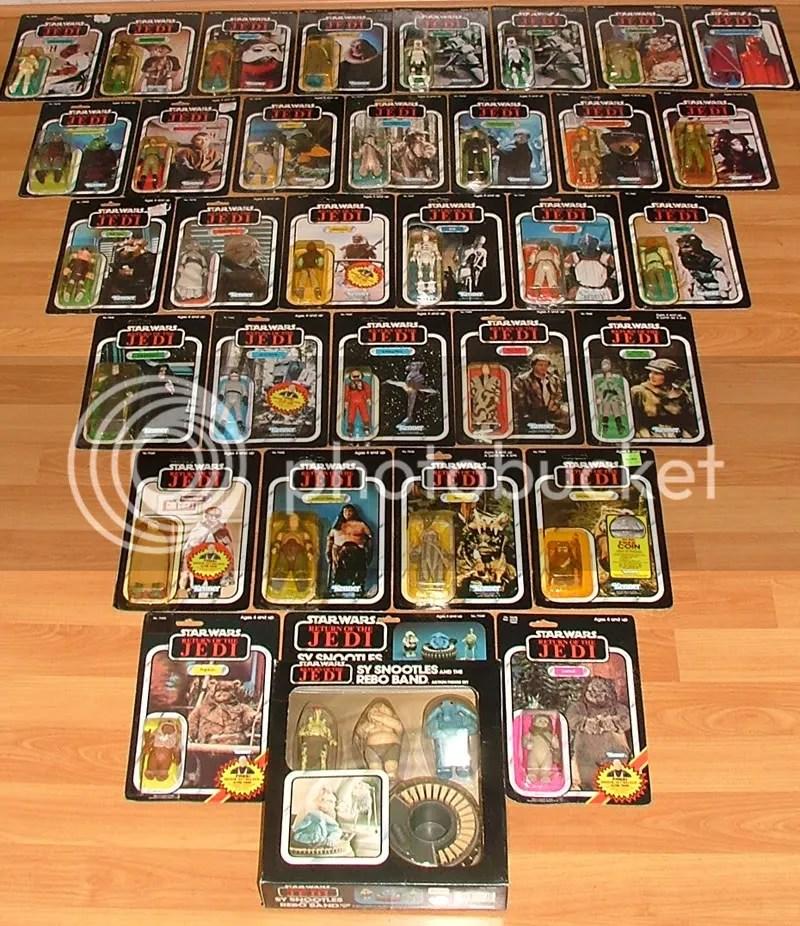 Complete set of Jedi Characters on Jedi cardbacks.