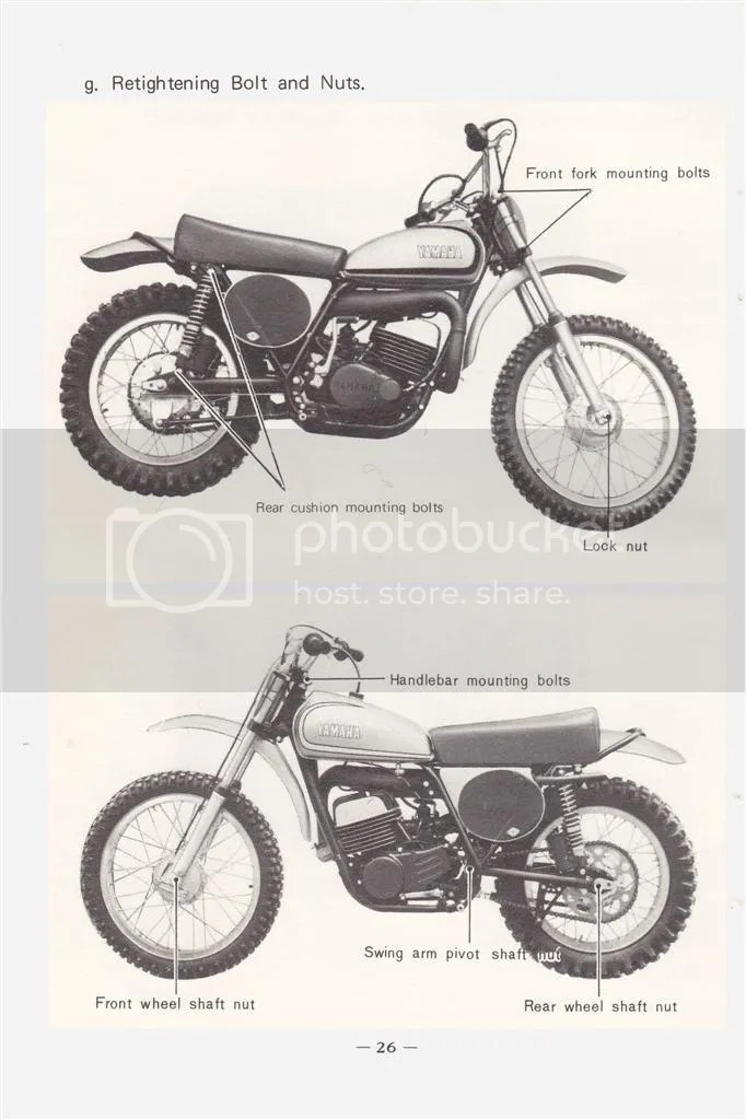 1973-74 YAMAHA MX250 MX360 SC500 owner's service and