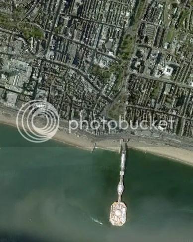 mapa pier Brighton